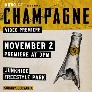 KINK CHAMPAGNE / SLOVAK PREMIERE 2.11.2019 / FREESTYLE PARK ŠURANY